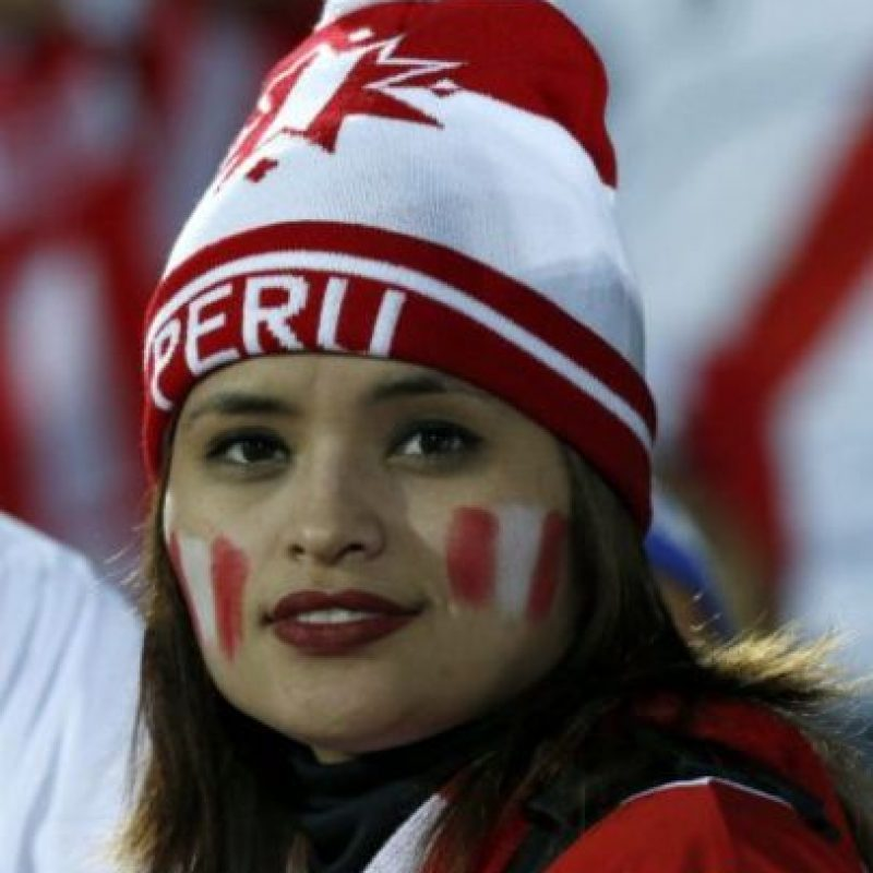 Otra hincha peruana Foto:AFP