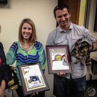 """Y también fue reconocida por la """"US Exercise Tiger Foundation"""" con el premio Blue Tiger Foto:Instagram.com/TaraTheHeroCat"""