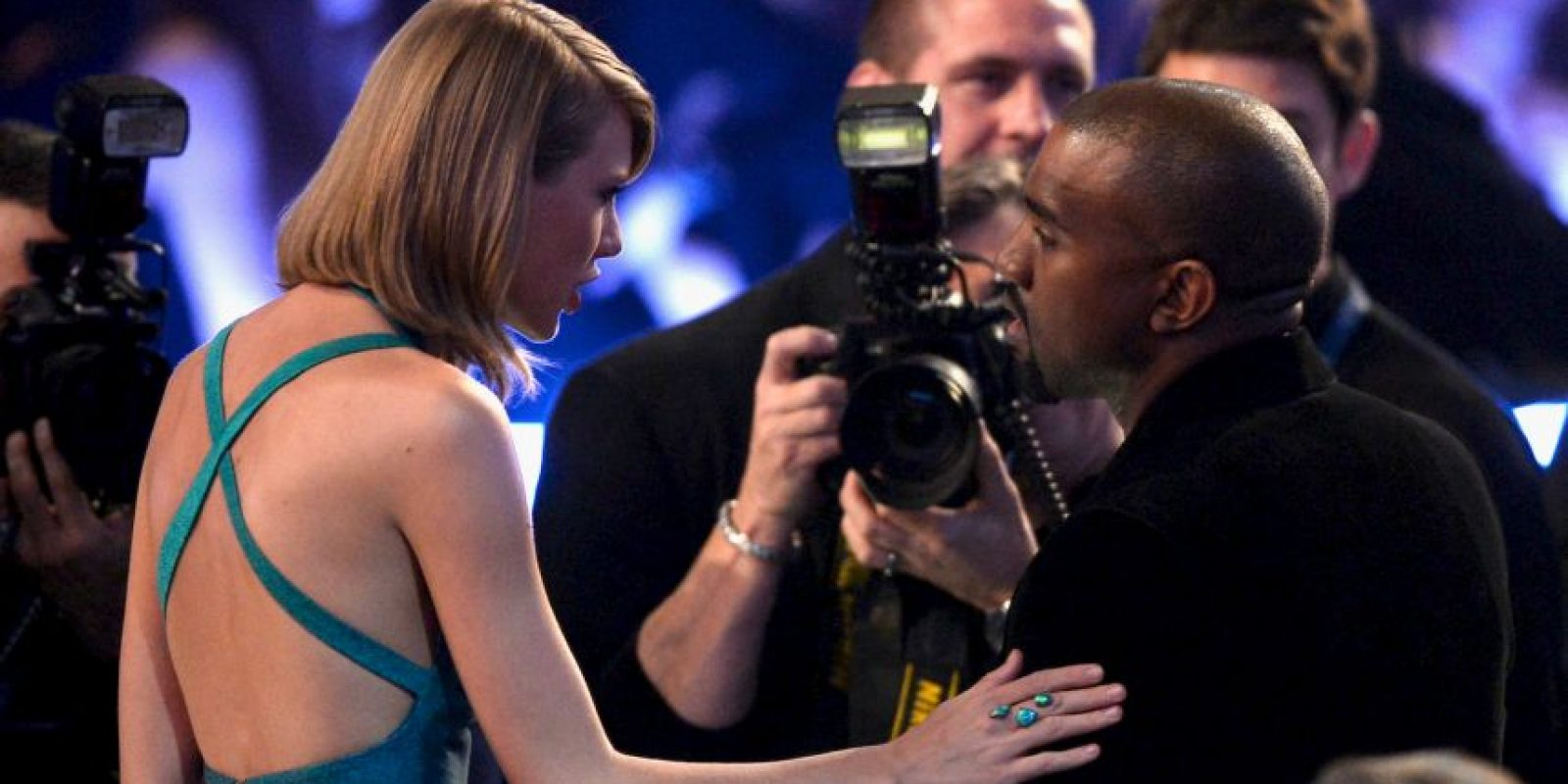 Taylor con Kanye West Foto:Getty Images