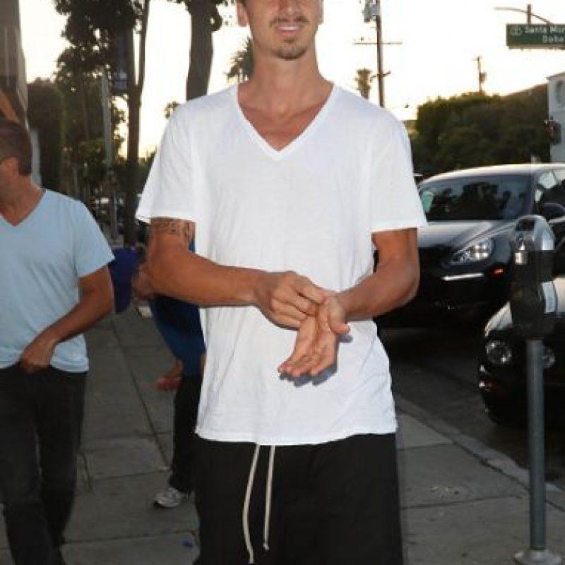 Aprovechando sus vacaciones, Zlatan Ibrahimovic estuvo de visita en Los Ángeles. Foto:Getty Images