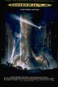 """""""Godzilla"""" (1998) La adaptación del clásico japonés fue referida fuertemente como una parte más de la franquicia de """"Jurassic Park"""". La película presentaba secuencias con monstruos muy silimares a los dinosaurios de esta última. Original """"Godzilla"""" (1954) Foto:IMDb"""