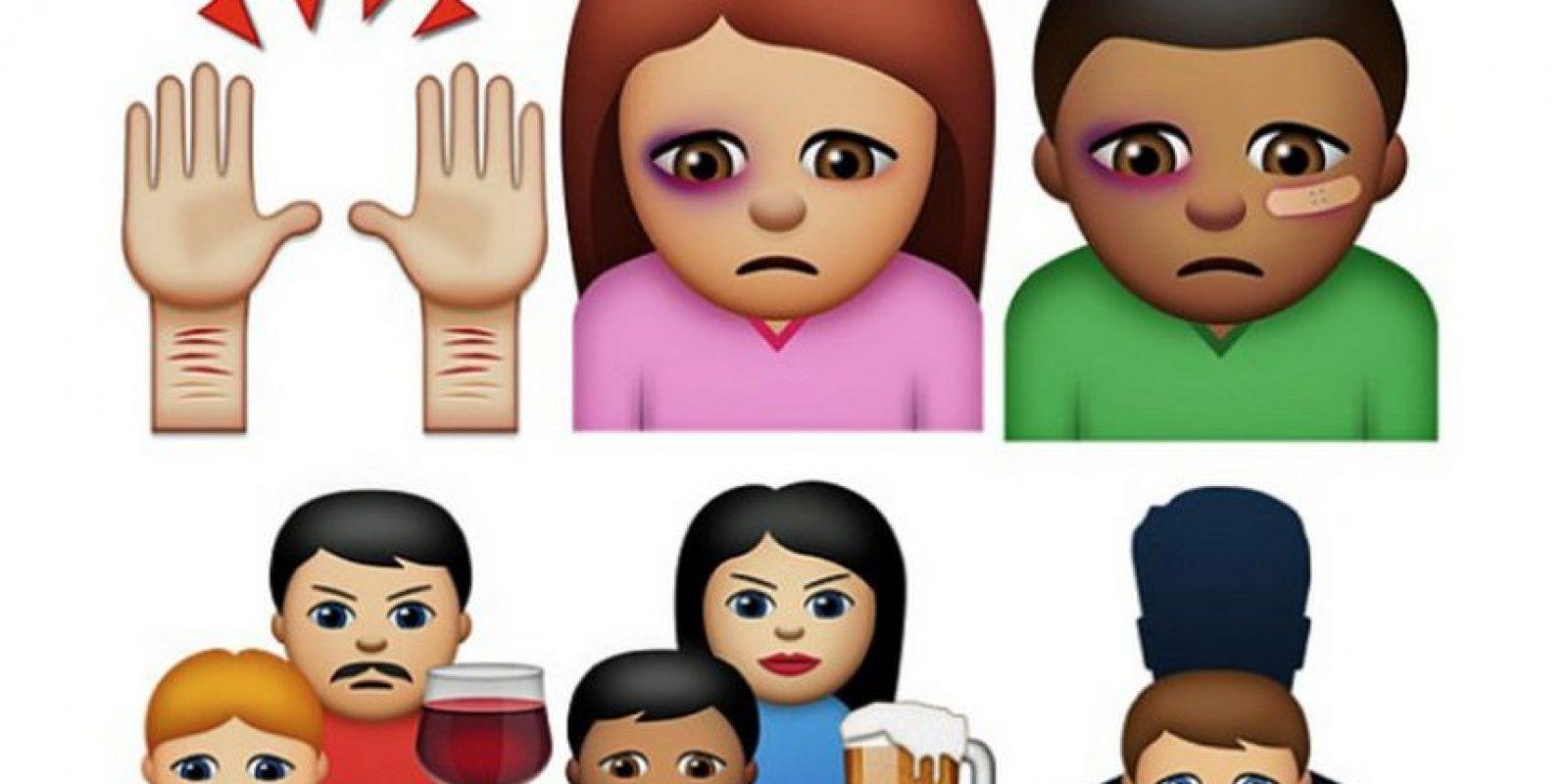 """La fundación sueca para los Derechos de los Niños en la Sociedad (BRIS) creó una app llamada """"Abused emojis"""" con los que víctimas de violencia pueden denunciar mediante emojis. Foto:BRIS"""
