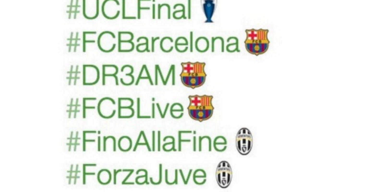 8) Para alentar a su club favorito. Foto:Twitter