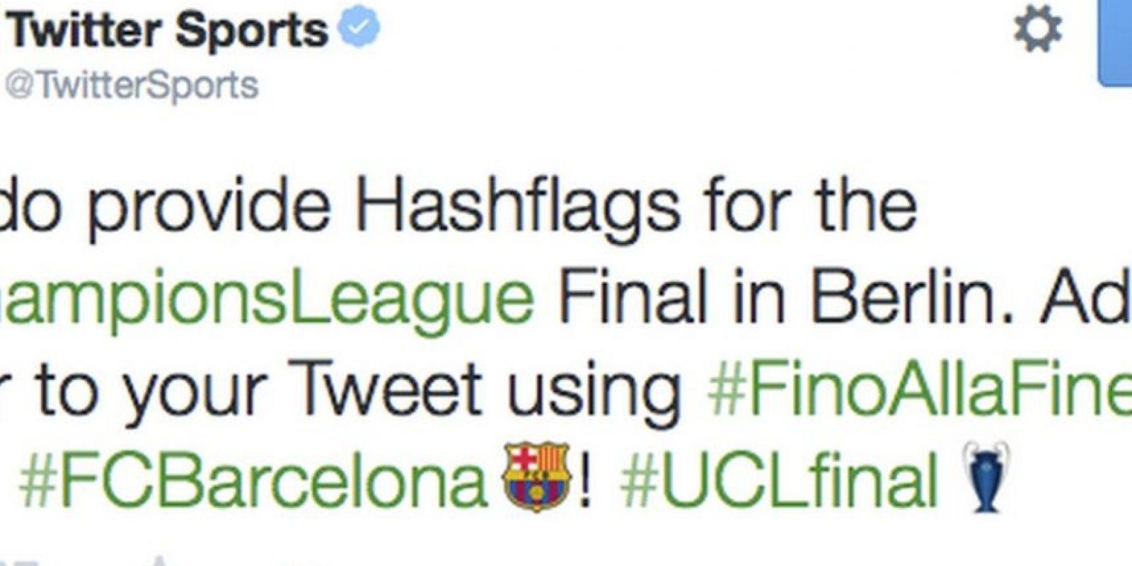 En la final de la UEFA Champions League 2015 podían apoyar al Barcelona o Juventus. Foto:Twitter
