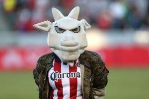 """El extinto Chivas USA tenía a esta chiva malencarada llamada """"ChivaFighter"""". Foto:Getty Images"""