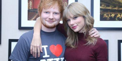 Taylor con Ed Sheeran Foto:Getty Images