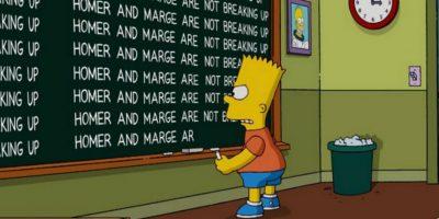 "Anteriormente, ""Bart"" aseguró que sus padres no se separarían. Foto:Twitter/TheSimpsons"