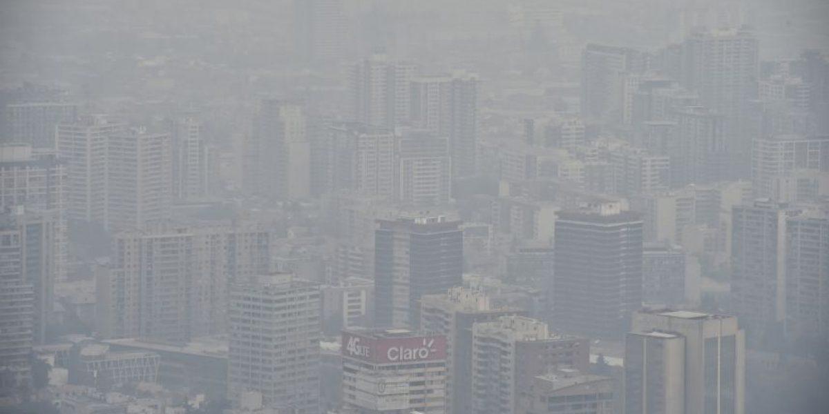 Impresionantes imágenes de la contaminación en Santiago de Chile