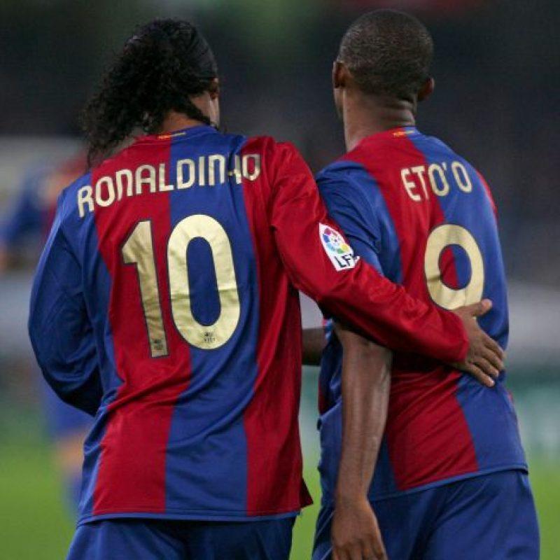 Eto'o y Ronaldinho podrían volver a jugar juntos. Foto:Getty Images