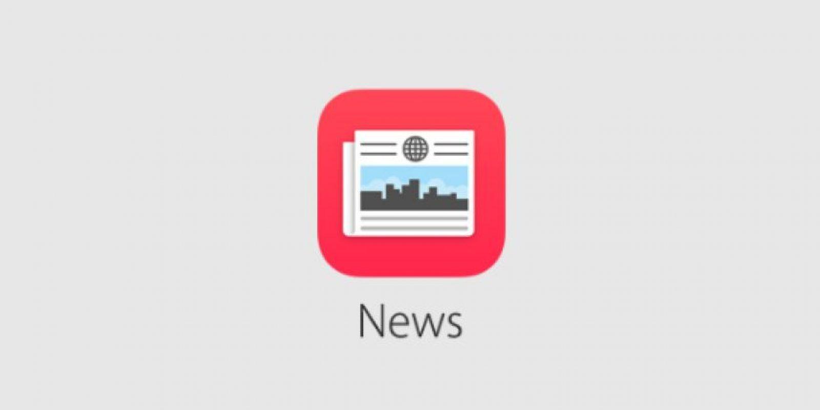News permitirá leer contenido de noticias e información en el momento Foto:Apple