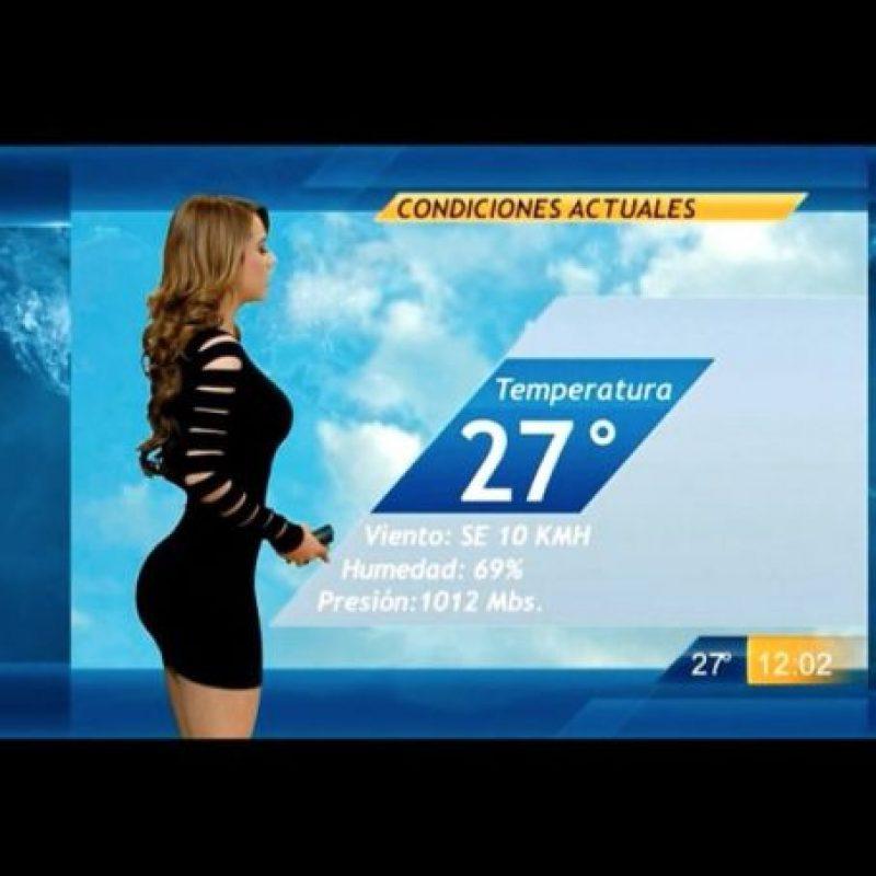 Los tuiteros se han encargado de difundir videos de Yanet dando los pronósticos del tiempo atmosférico. Foto:Vía Instagram.com/iamyanetgarcia