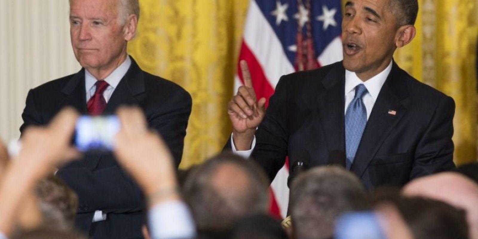"""""""Presidente Obama, libere a todos los LGBT de los centros de detención para inmigrantes ilegales"""", gritaba Jennnicet Foto:AFP"""