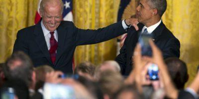 Su reacción causó mucha gracia. Foto:AP