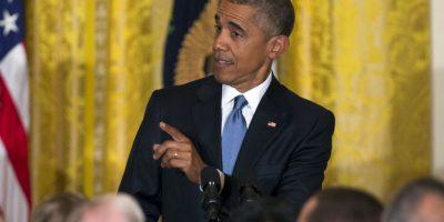 Interrumpen a Barack Obama en su discurso y esta es su reacción. Foto:AP