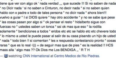 Las autoridades indicaron que no posee ningún expediente criminal. Foto:Vía facebook.com/hidalberto