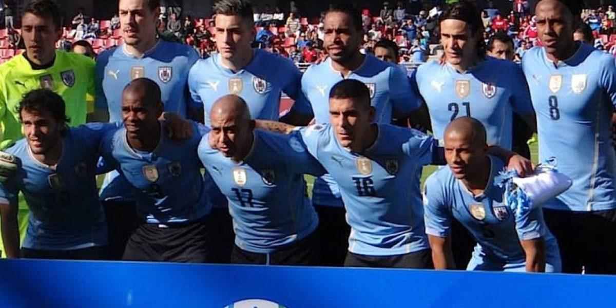 FOTOS: Así salta a la cancha Uruguay para enfrentar a Chile