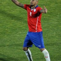 Igualó en la cima de la tabla de goleo al chileno Arturo Vidal. Foto:AFP
