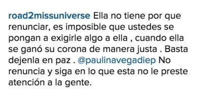 Comentarios a favor Foto:Vía instagram.com/paulinavegadiep/