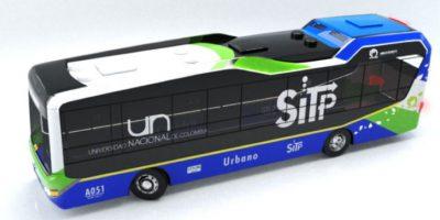 Así se verían los nuevos buses del transporte público en Bogotá. Foto:Observatorio de Movilidad Sostenible – Universidad Nacional