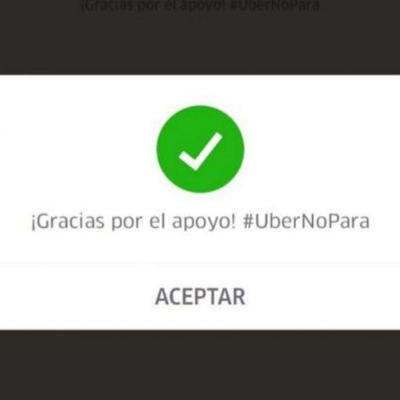 A finales de mayo pasado y como respuesta a las manifestaciones de taxistas contra Uber, la empresa regaló viajes gratis en Ciudad de México. Foto:Uber