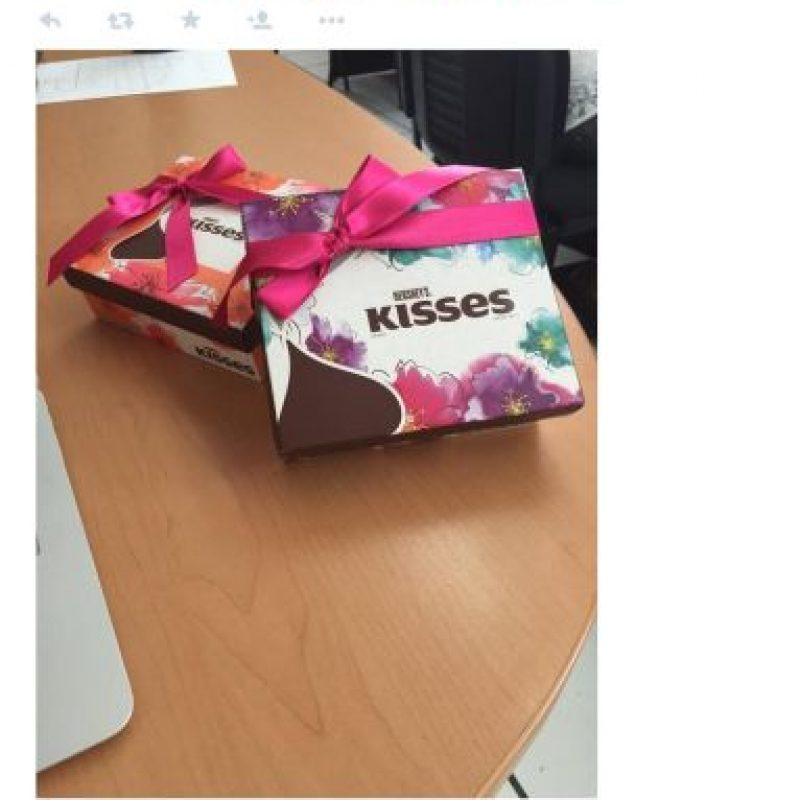 Una o dos cajas de chocholates recibeiron usuarios de Guadalajara, México. Foto:Uber