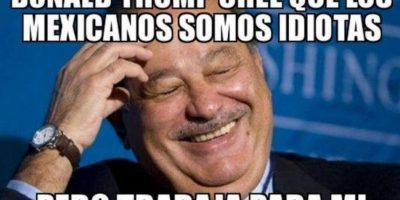 Carlos Slim es más rico que Donald Trump. Y voilá, es mexicano. Así que… Foto:vía Twitter