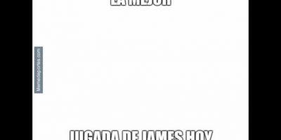 Y a James Rodríguez…(¿Cómo que sí jugó?). Foto:memedeportes.com