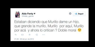 Algunos critican a los que criticaron a Murillo. Foto:vía Twitter