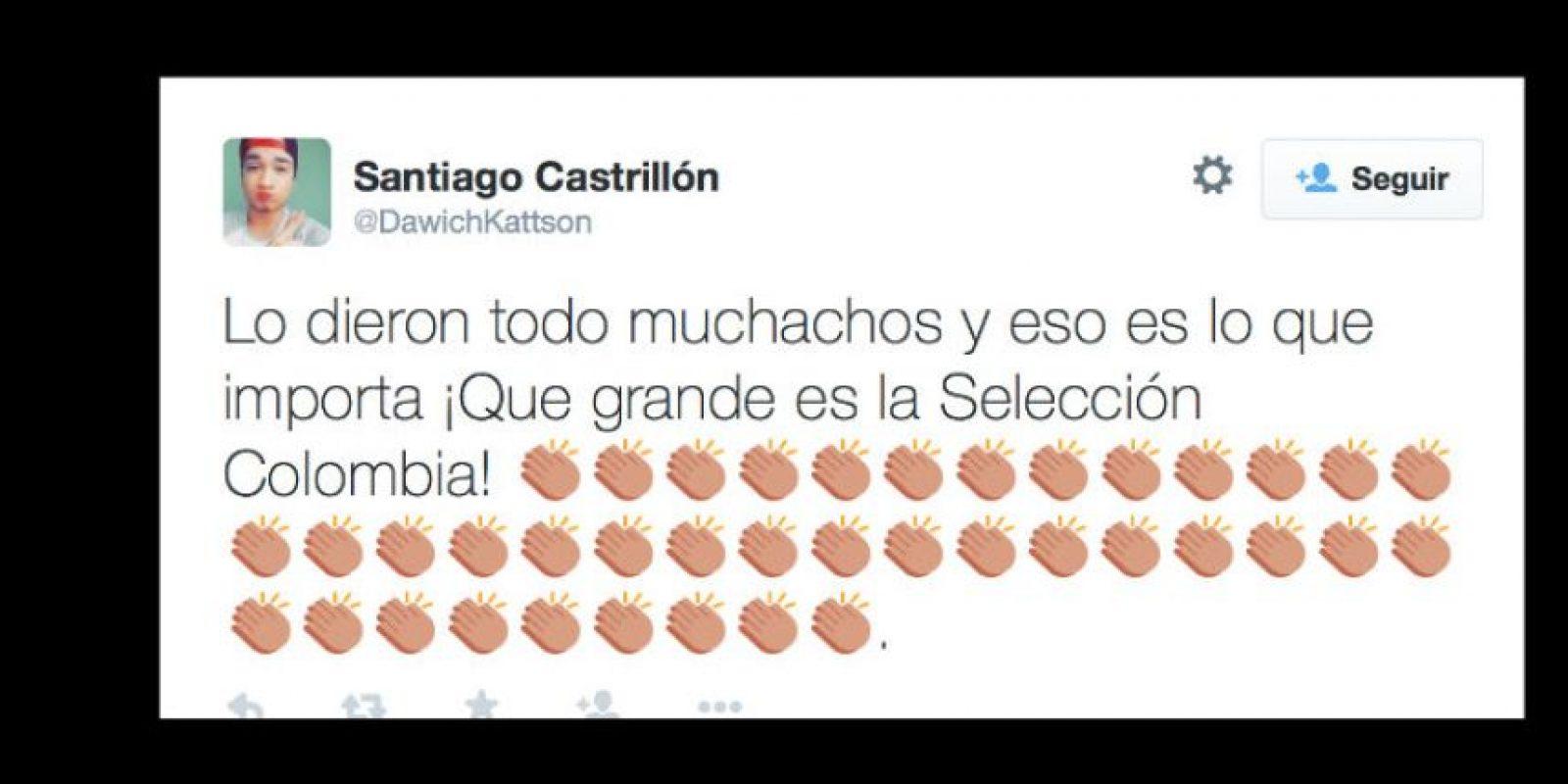 En conjunto, no hay críticas para la Selección Colombia. Foto:vía Twitter