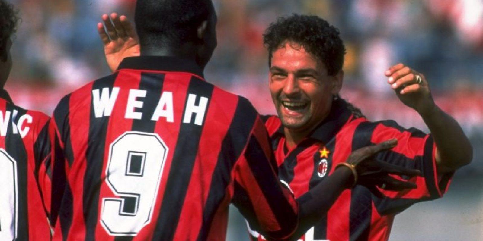 Alessandro del Piero y Zinedine Zidane jugaban juntos, igual que George Weah y Roberto Baggio. Foto:Getty Images