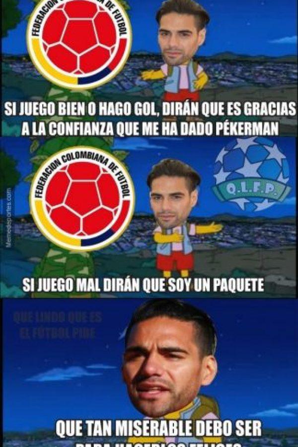 """Y el """"Tigre"""" Falcao sigue sin rugir. Foto:memedeportes.com"""
