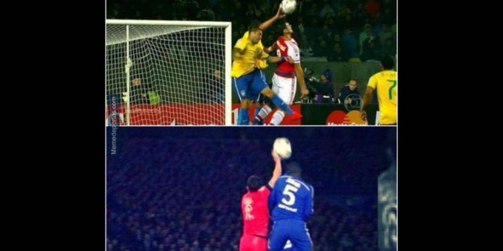Que provocó un penal que significó el empate de Paraguay. Foto:memedeportes.com