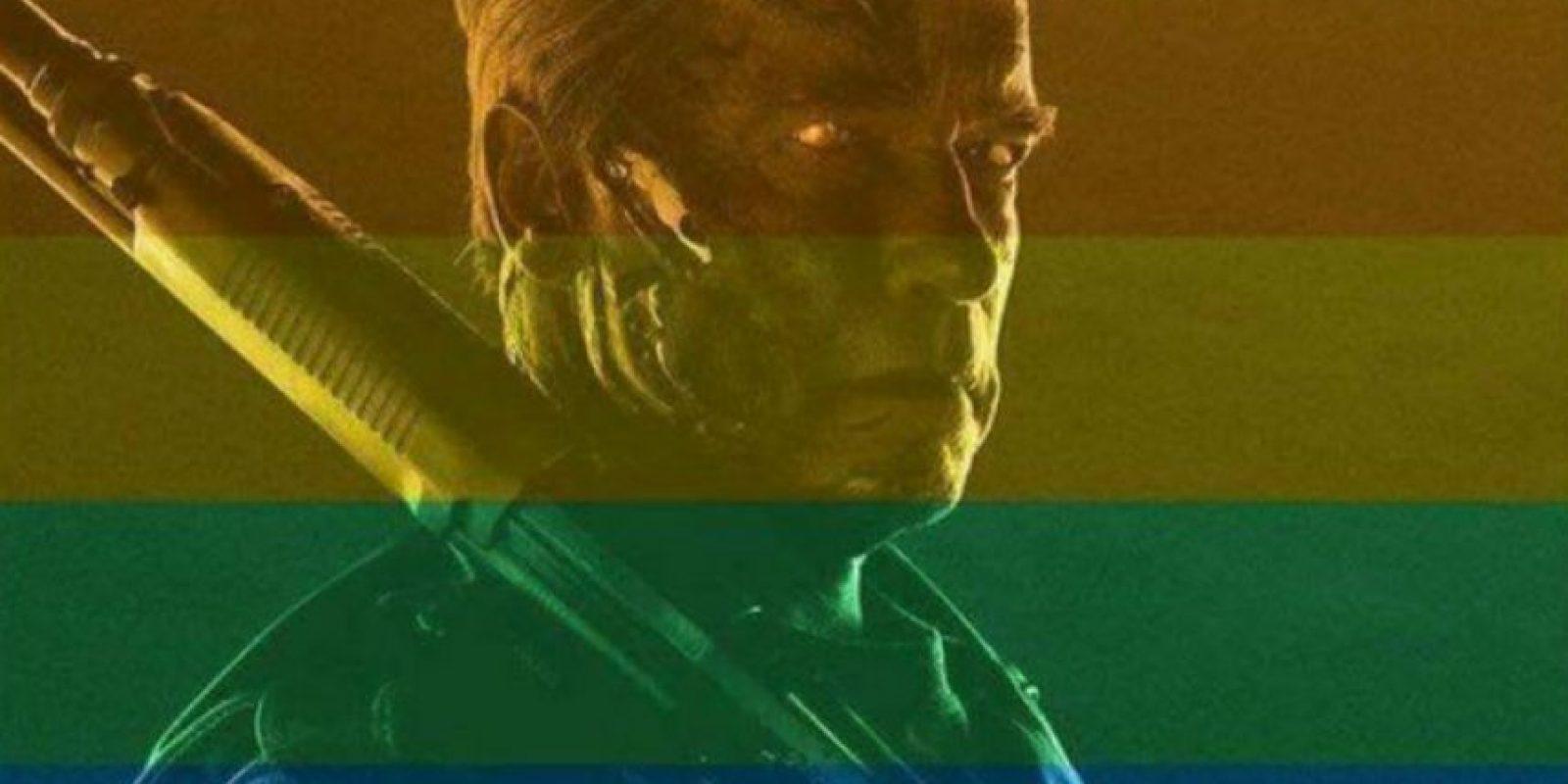 En el Día del Orgullo Gay, Arnold Schwarzenegger posteó esta foto, mostrando su apoyo hacia la comunidad. Foto:vía Facebook