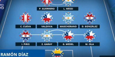Estos fueron los 11 mejores jugadores y mejor DT de los cuartos de final de Chile 2015. Foto:copaamerica2015.com