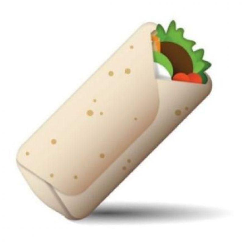 Burrito – Comida con una base de tortilla de harina de trigo y rellena con carne asada. Foto:emojipedia.org