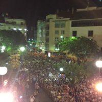 Así celebró la ciudad de Huesca el ascenso a la Liga Adelante. Foto:Vía witter.com/elena_261212