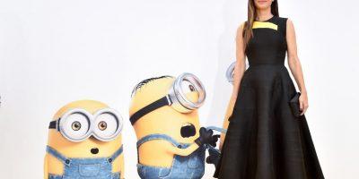 "En la cinta animada ""Minions"", Sandra Bullock es la encargada de prestar su voz a ""Scarlett Overkill"", la villana de la historia. Foto:Getty Images"