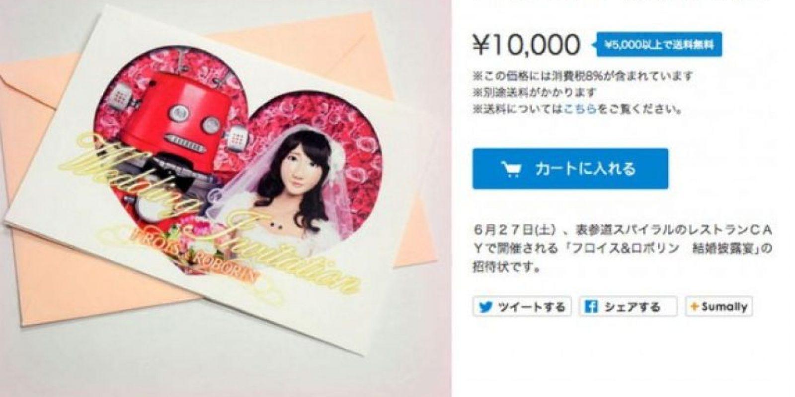 Esta fue la invitación a la boda Foto:twitter.com/maywadenki