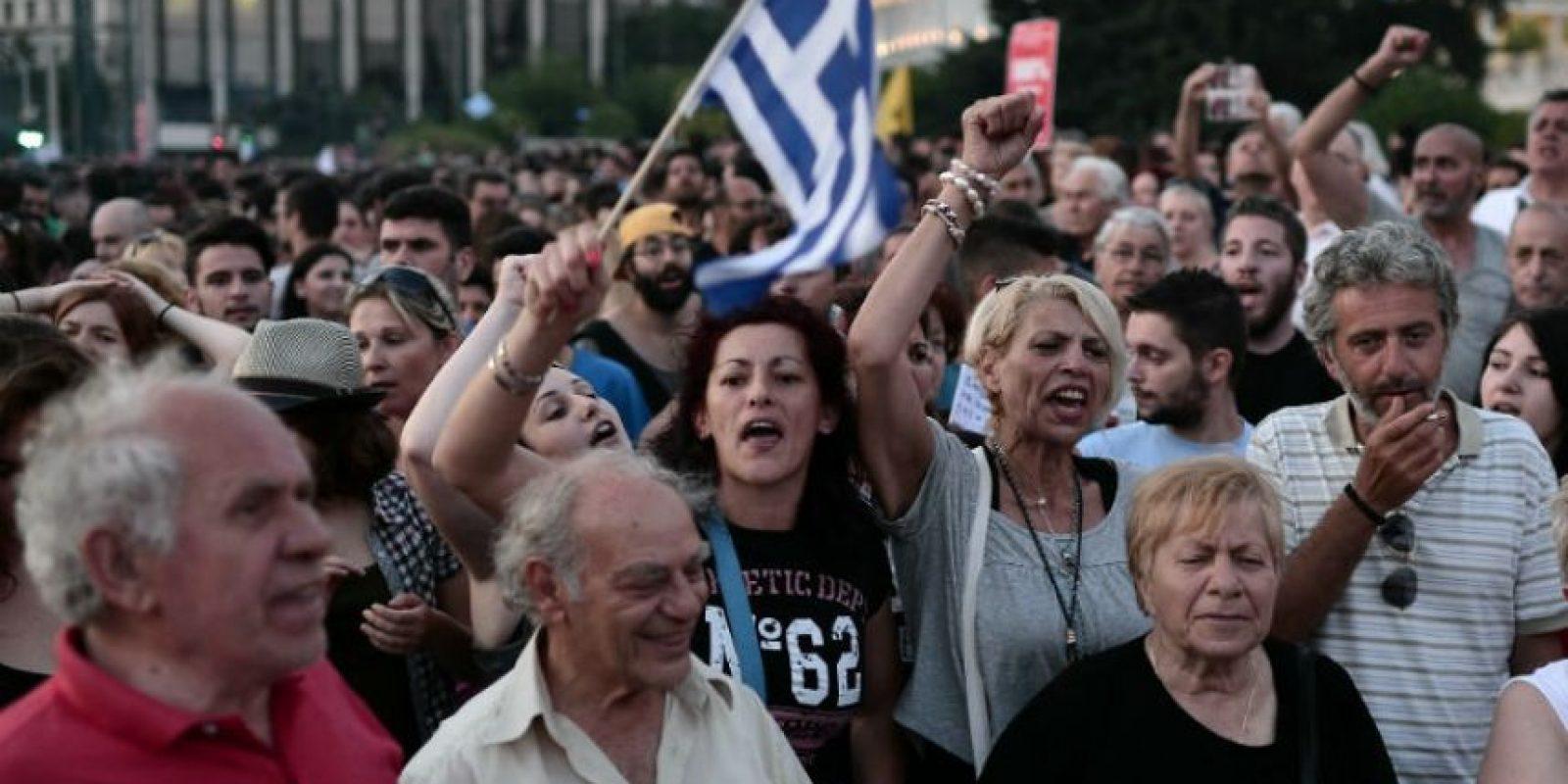 Así se viven las manifestaciones en Grecia ante el referéndum griego. Foto:AFP