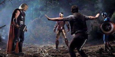 """Aquí en su participación con los """"Vengadores"""". Foto:vía facebook"""
