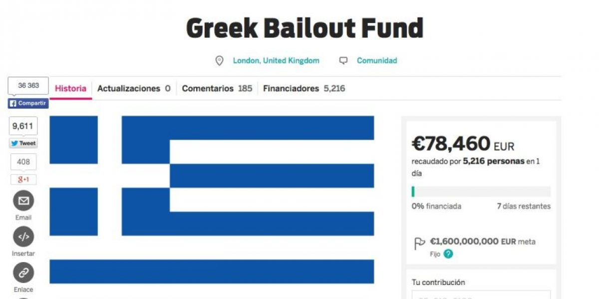 Conozca la campaña web para salvar a Grecia de la crisis