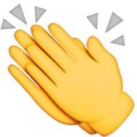 """Se puede utilizar para decir: """"Felicidades"""", dar aplausos, """"congratulaciones"""". Foto:emojipedia.org"""