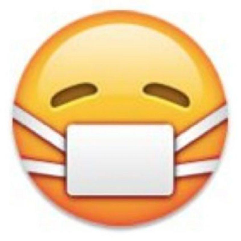 """Se puede utilizar para decir: """"Estoy enfermo"""", """"me siento mal"""". Foto:emojipedia.org"""