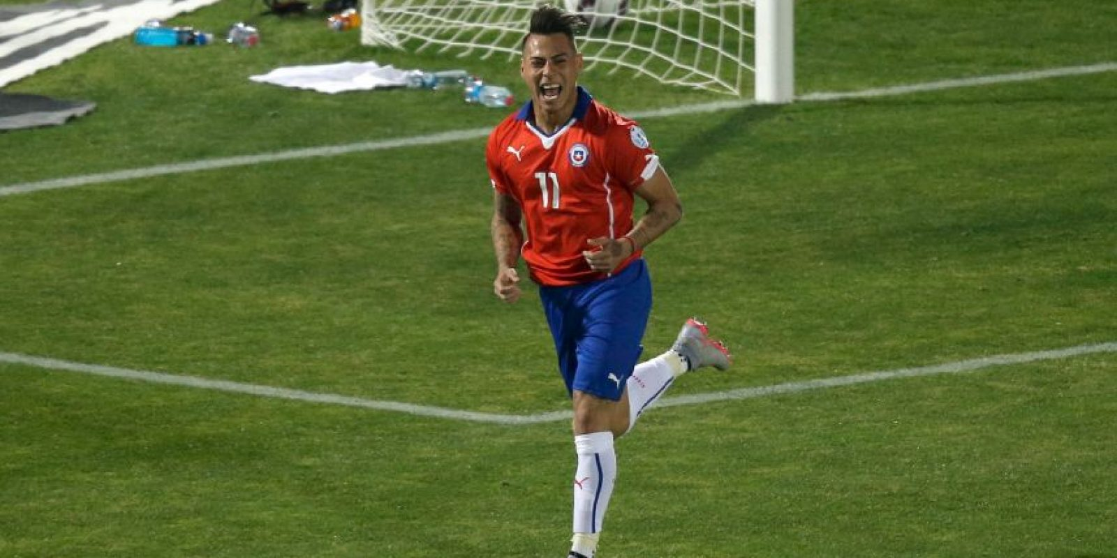 Con sus goles, llevó a Chile a la final del torneo Foto:AFP