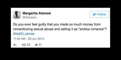 """""""¿Te consideras culpable por hacer dinero al romantizar el abuso sexual?"""" Foto:vía Twitter"""