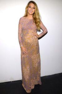 La actriz californiana tuvo su primer embarazo y lucía así poco antes de dar a luz. Foto:Getty Images