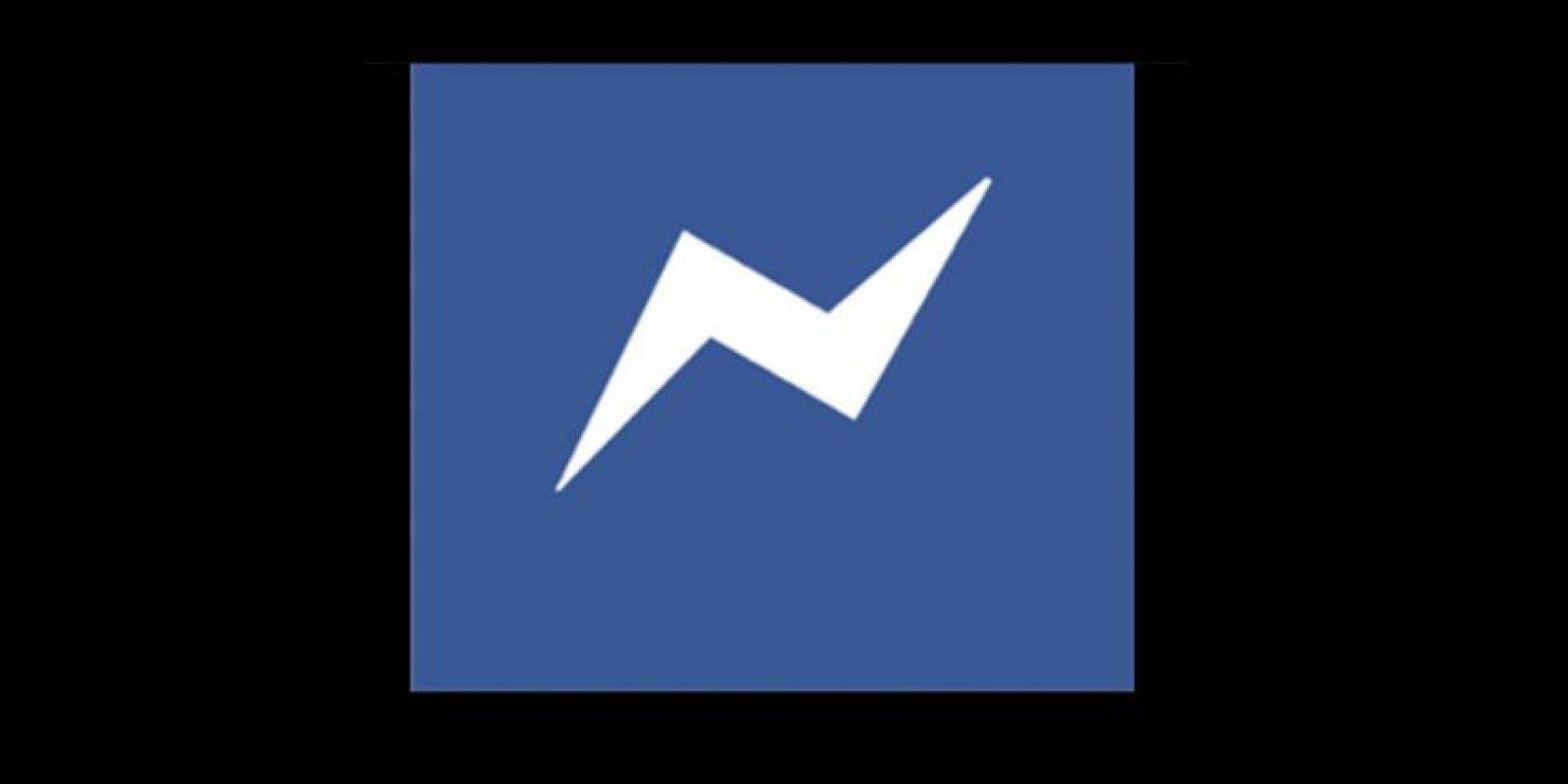 Antes: Logo de Messenger Foto:Facebook