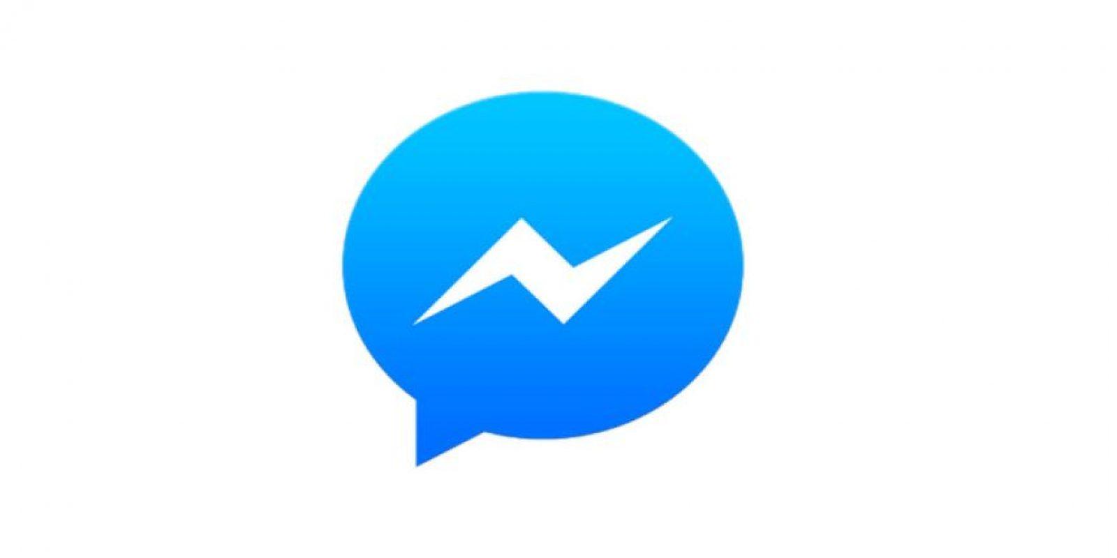 Ahora: Logo de Messenger Foto:Facebook