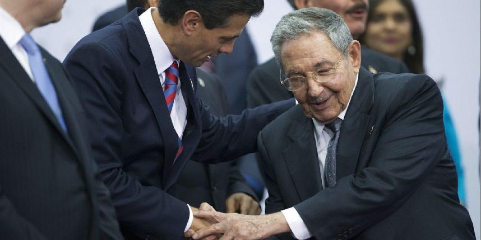 Con Enrique Peña Nieto, presidente de México Foto:AP