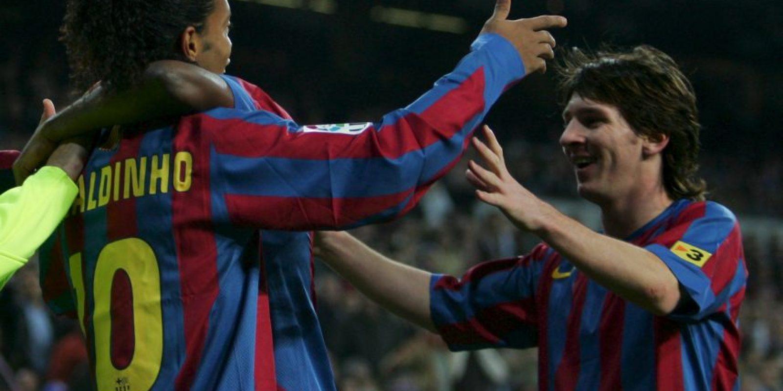 """El argentino debutó en el primer equipo cuando """"Dinho"""" era una estrella mundial y referente del Barça de Frank Rijkaard. Foto:Getty Images"""